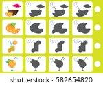 match shadow   worksheet for... | Shutterstock .eps vector #582654820