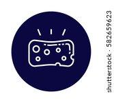 sponge icon | Shutterstock .eps vector #582659623