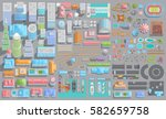 set of landscape elements. city.... | Shutterstock .eps vector #582659758