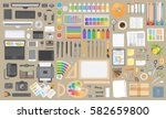 vector set. objects for... | Shutterstock .eps vector #582659800