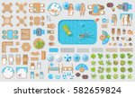 vector set. outdoor furniture... | Shutterstock .eps vector #582659824