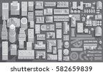 set of landscape elements in... | Shutterstock .eps vector #582659839