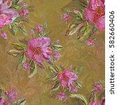 seamless pattern. watercolor... | Shutterstock . vector #582660406