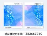 scientific brochure design... | Shutterstock .eps vector #582663760
