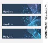 scientific set of modern vector ... | Shutterstock .eps vector #582663874