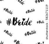wedding social media... | Shutterstock .eps vector #582671119