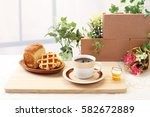 coffee time | Shutterstock . vector #582672889