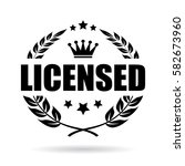 licensed product laurel vector... | Shutterstock .eps vector #582673960