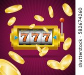 casino concept slot machine... | Shutterstock .eps vector #582674260