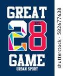 new york great game t shirt... | Shutterstock .eps vector #582677638