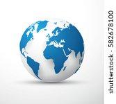 blue earth globe | Shutterstock .eps vector #582678100