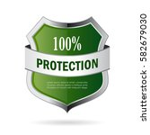 green shield protection vector... | Shutterstock .eps vector #582679030