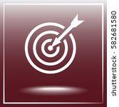darts target sign icon  vector... | Shutterstock .eps vector #582681580