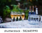 champagne at the banquet  | Shutterstock . vector #582685990