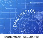 imagination text with gear... | Shutterstock .eps vector #582686740