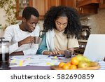 finances and family budget... | Shutterstock . vector #582690859
