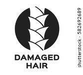 damaged hair icon and vector | Shutterstock .eps vector #582692689