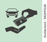 money and car vector icon | Shutterstock .eps vector #582694168