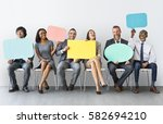 business team speech bubble... | Shutterstock . vector #582694210