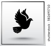 dove sign icon  vector... | Shutterstock .eps vector #582695710