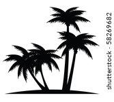 palms | Shutterstock .eps vector #58269682