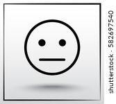 face sign icon  vector... | Shutterstock .eps vector #582697540
