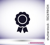 vector badge with ribbons .  | Shutterstock .eps vector #582698434