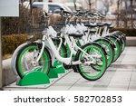 rental bikes | Shutterstock . vector #582702853