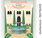 morocco traveling poster... | Shutterstock .eps vector #582706330