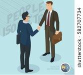 successful businessmen... | Shutterstock .eps vector #582707734