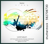 party vector illustration with... | Shutterstock .eps vector #582708730