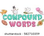 typography illustration... | Shutterstock .eps vector #582710359