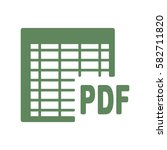 document icon  flat design style | Shutterstock .eps vector #582711820
