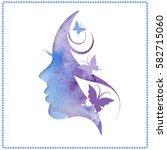 vector illustration of woman's... | Shutterstock .eps vector #582715060
