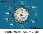 infograph bubble speech... | Shutterstock .eps vector #582719830