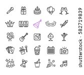 party icon thin line set for... | Shutterstock . vector #582719839