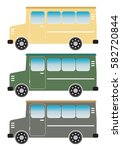 set of vintage old van vector... | Shutterstock .eps vector #582720844