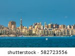 view of alexandria harbor  egypt | Shutterstock . vector #582723556