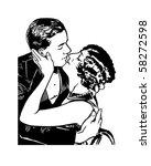 romeo and juliet   retro clip... | Shutterstock .eps vector #58272598