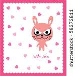 monster doodle love greeting | Shutterstock .eps vector #58272811