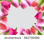 Beautiful Pink Realistic Tulip...