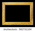antique gold frame isolated on... | Shutterstock . vector #582731104