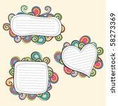 retro doodle frame | Shutterstock .eps vector #58273369