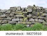 A Dry Stone Wall Made Of Rando...