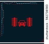 car wash icon. | Shutterstock .eps vector #582738583