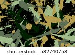 seamless pattern. chaotic spray.... | Shutterstock .eps vector #582740758