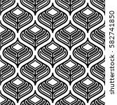 floral line seamless pattern.... | Shutterstock .eps vector #582741850