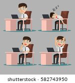 set office workers. | Shutterstock .eps vector #582743950