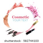 cosmetics set isolated on white | Shutterstock . vector #582744103