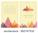 set of stylish outdoor card... | Shutterstock .eps vector #582747910